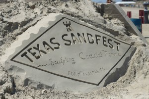 Port Aransas Sandfest Logo in Sand
